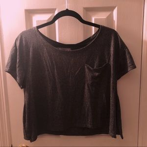 Abercrombie & Fitch Dark Gray Cropped Tee